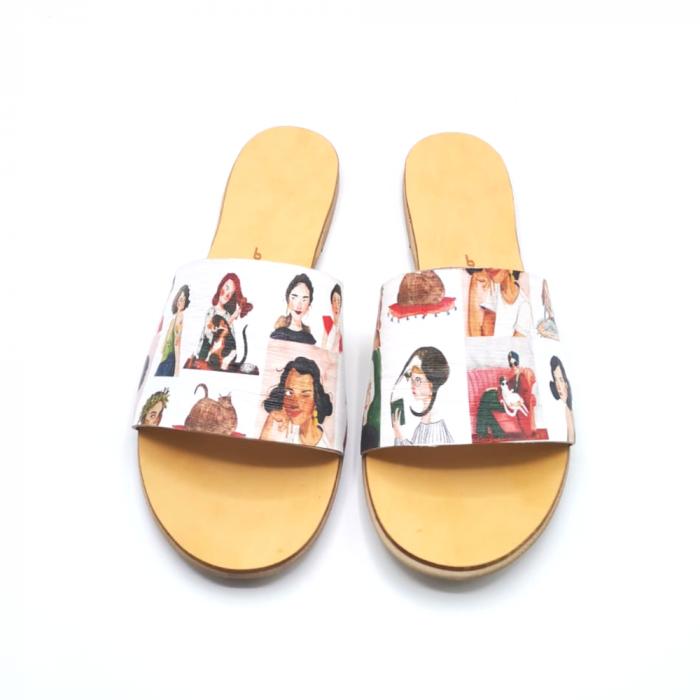 Papuci de dama din piele Elisa Girls [1]