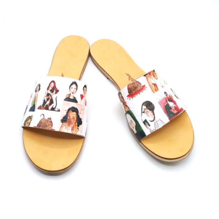 Papuci de dama din piele Elisa Girls [2]