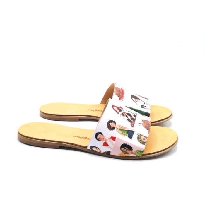 Papuci de dama din piele Elisa Girls [0]