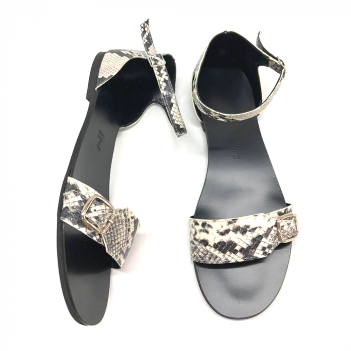 Sandale dama din piele Ada Snake Print 2