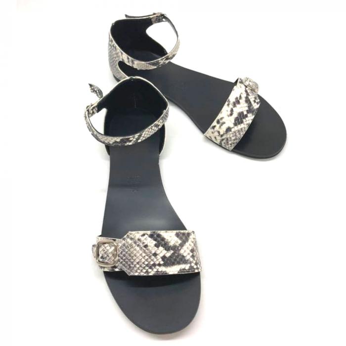 Sandale dama din piele Ada Snake Print 1