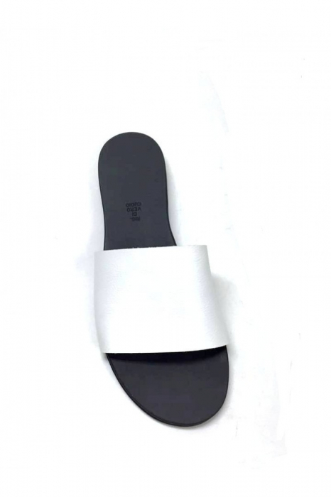 Papuci de dama din piele White Elisa 2