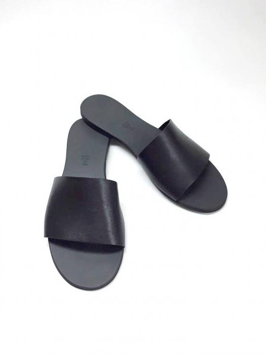 Papuci de dama din piele Black Elisa, 39 0