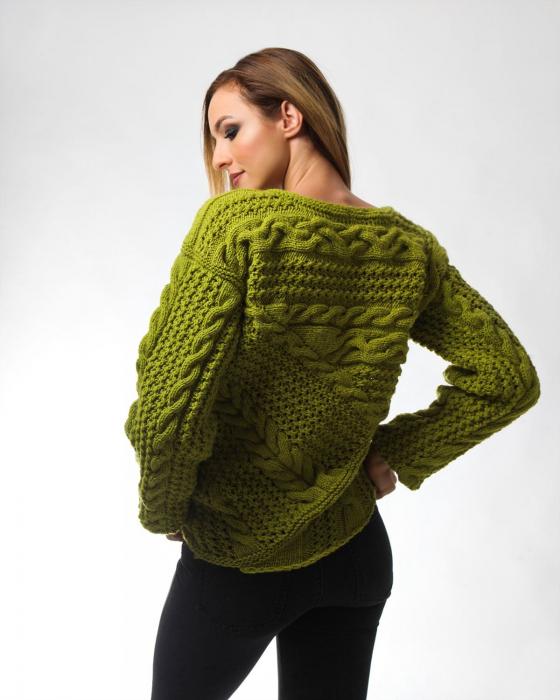 Pulover tricotat manual Pistachio [1]