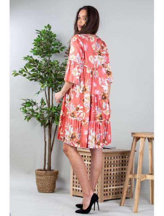 Rochie lejera cu imprimeu floral Coral Yvesse [2]