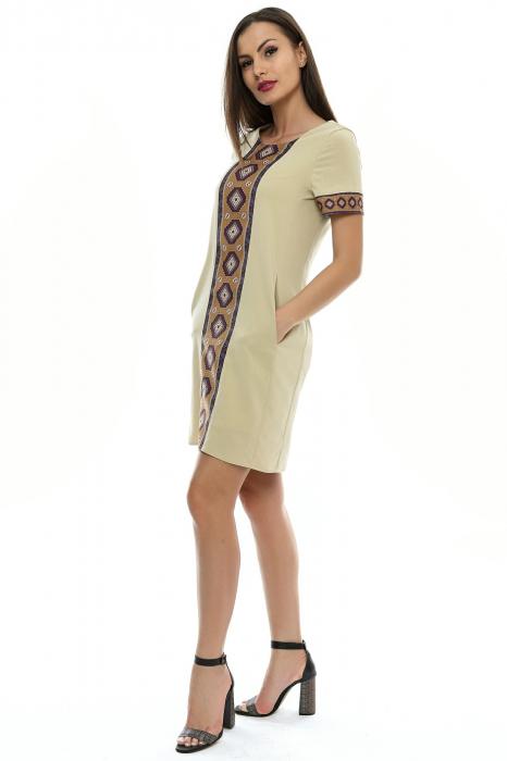 Rochie dama cu insertie printata RO106 1