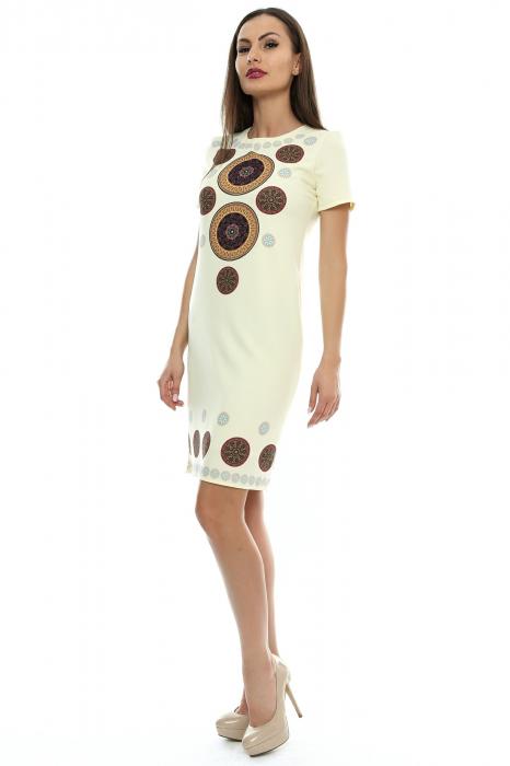 Rochie dama cu insertie printata RO110 1