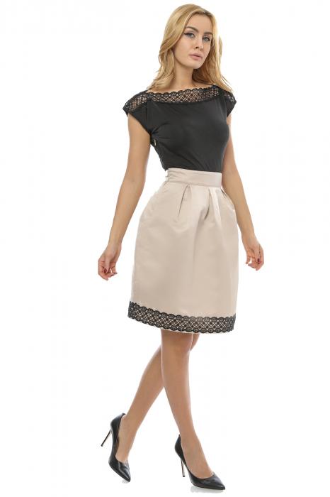 Rochie eleganta cu dantela brodata RO145 1