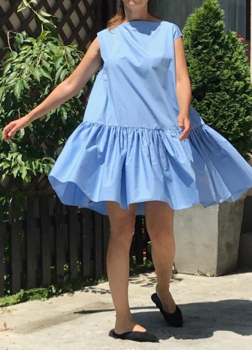 Rochie lejera din bumbac Vola Bleu Ciel 1
