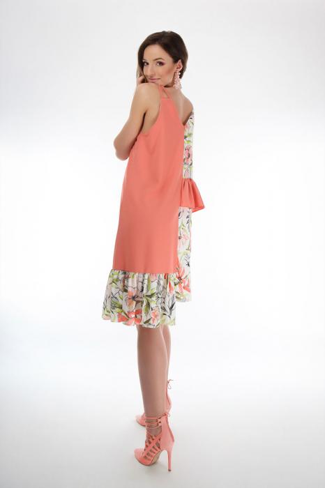 Rochie lejera din voal Coral Magnolia 3