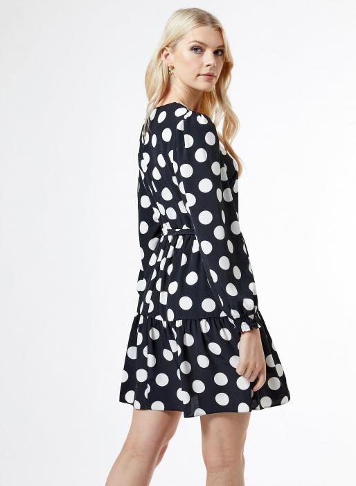 Rochie neagra cu buline mari albe 1