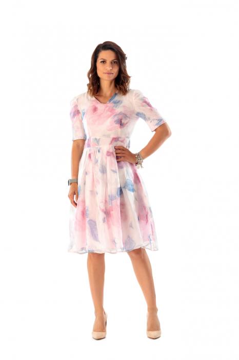 Rochie eleganta din organza cu imprimeu floral, You [1]
