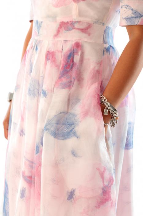 Rochie eleganta din organza cu imprimeu floral, You [4]