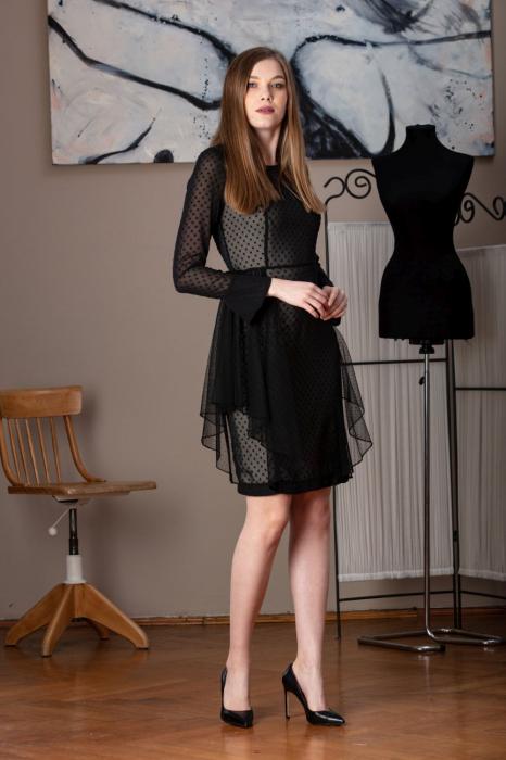 Rochie eleganta neagra din voal fin Limiam 0