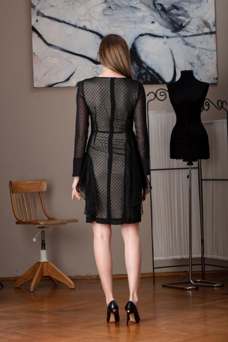 Rochie eleganta neagra din voal fin Limiam 2