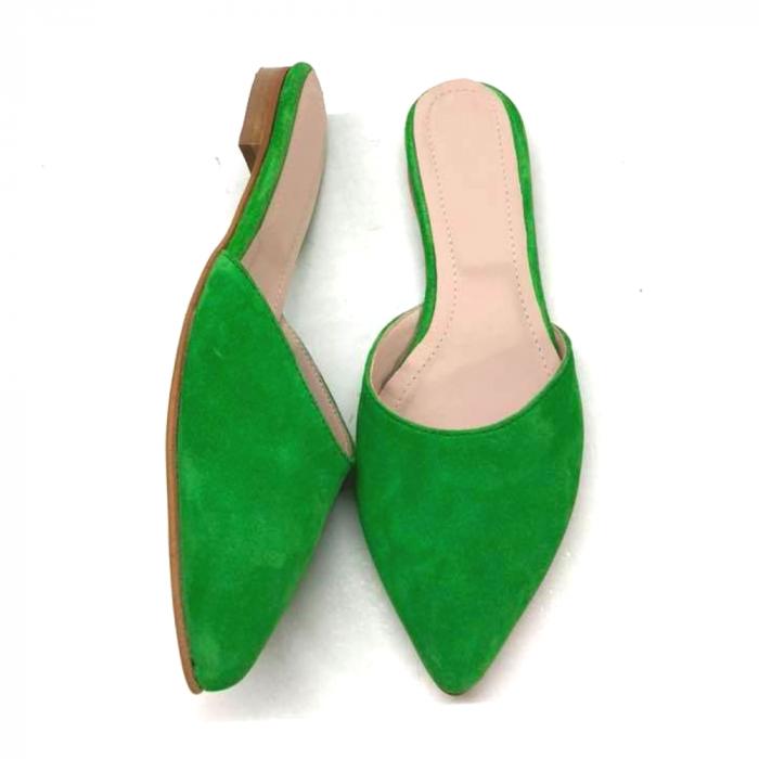Saboti dama din piele intoarsa Calista Green 1