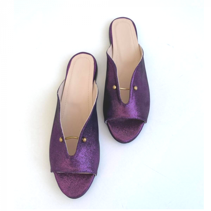 Saboti dama din piele naturala Dia Purple [4]