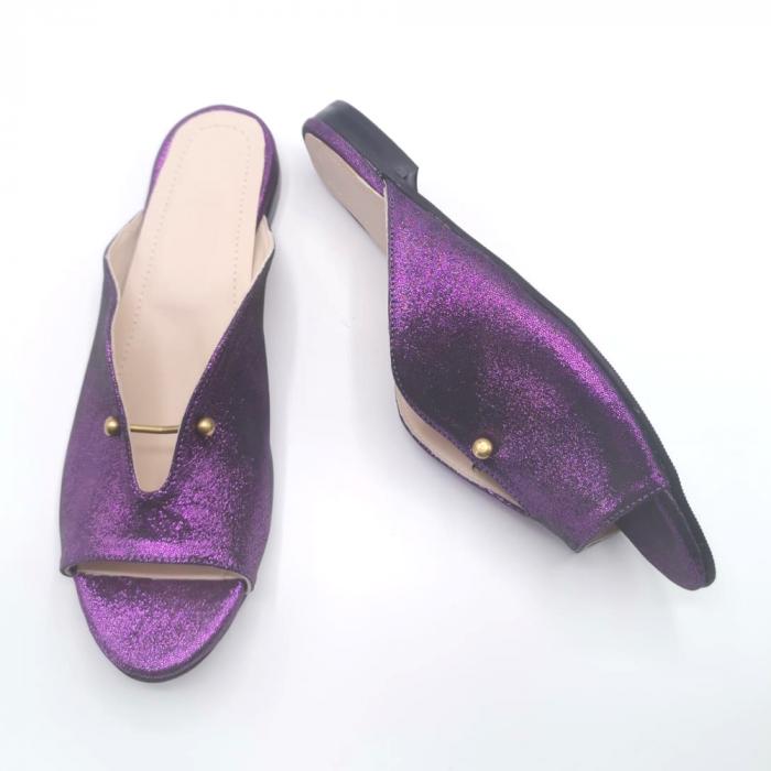 Saboti dama din piele naturala Dia Purple [2]