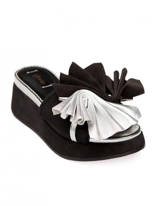 Papuci cu platforma din piele naturala Desiree 1