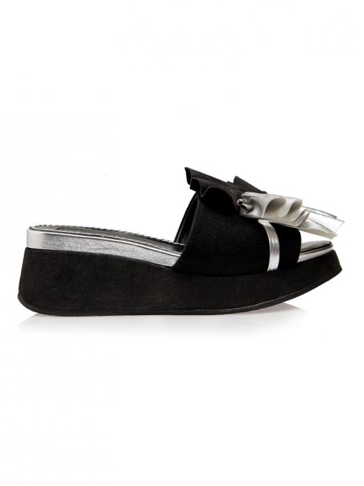 Papuci cu platforma din piele naturala Desiree 0
