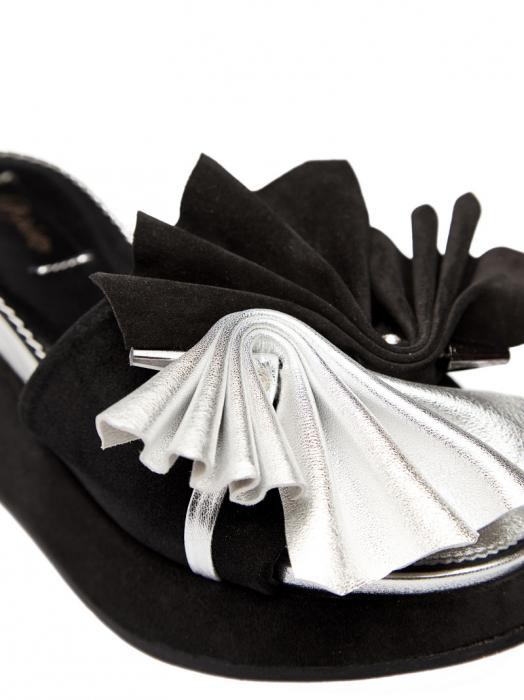 Papuci cu platforma din piele naturala Desiree 2