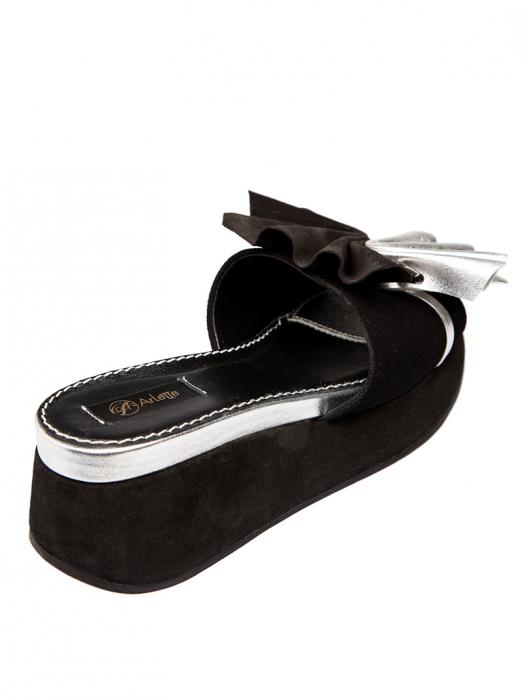 Papuci cu platforma din piele naturala Desiree 3