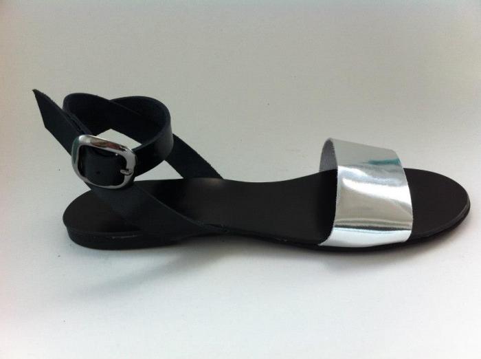 Sandale de dama din piele Silver Black, 39 [0]