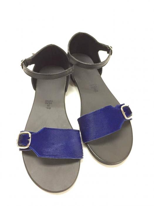 Sandale de dama din piele Ada Pony Blue 0
