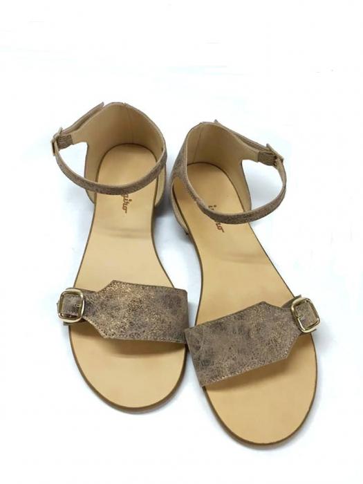 Sandale de dama din piele Ada Bronzo 0