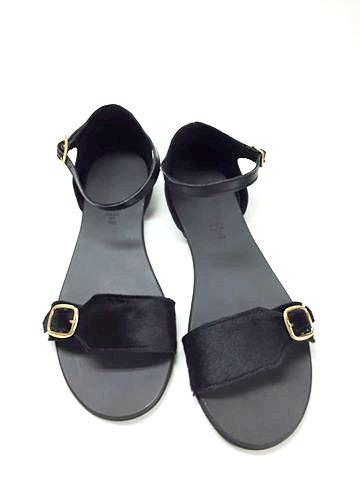 Sandale de dama din piele Ada Pony Black 0