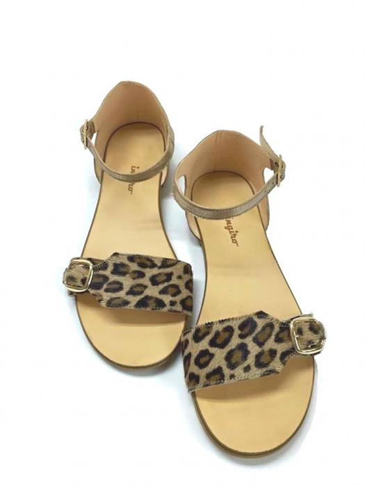 Sandale de dama din piele Ada Pony Print 0