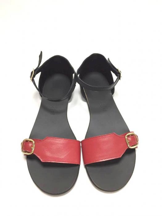 Sandale de dama din piele Ada Red 0