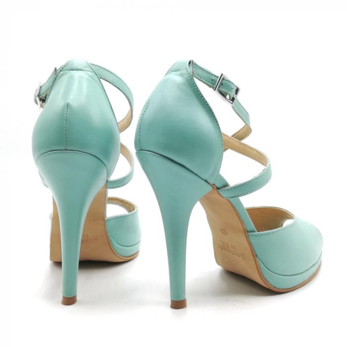 Sandale dama cu toc Mint din piele naturala 2