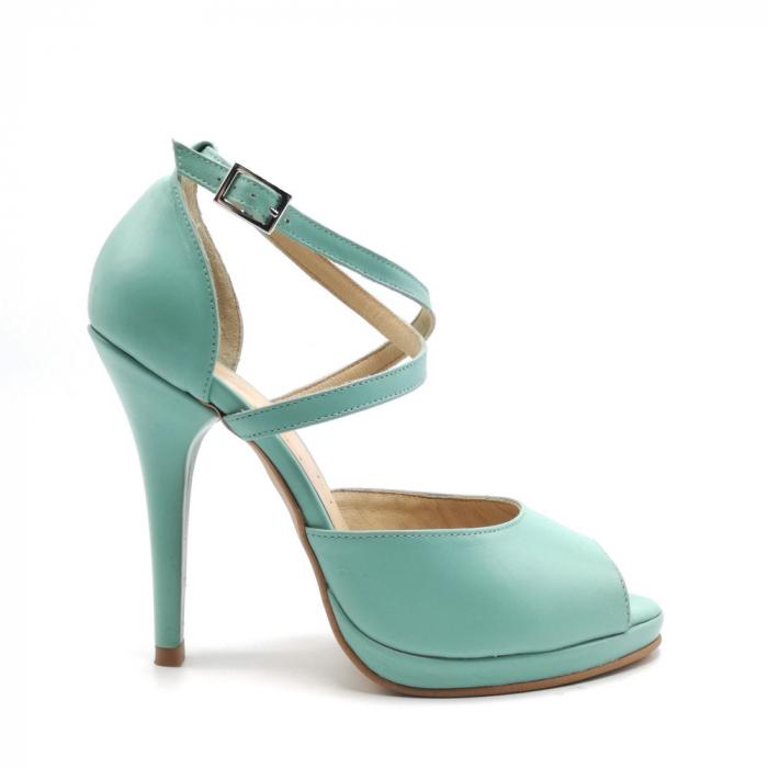 Sandale dama cu toc Mint din piele naturala 0