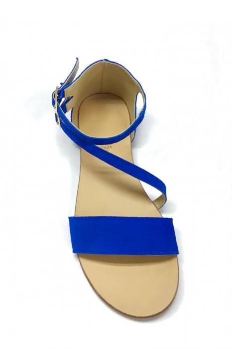 Sandale dama din piele Electric Blue Anna 1