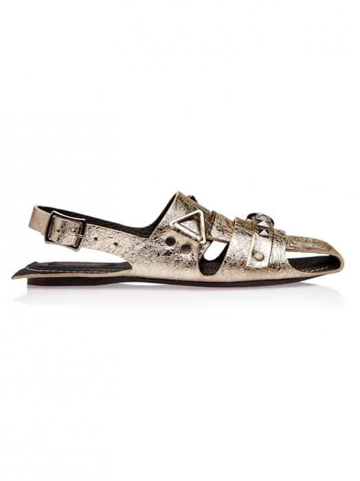 Sandale dama din piele naturala aurie Sophie 0