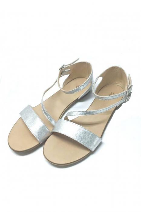 Sandale dama din piele Silver Anna 1