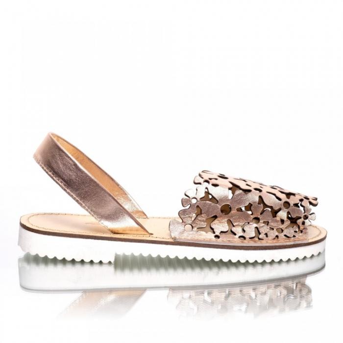 Sandale dama tip Avarca Auriu Perforat