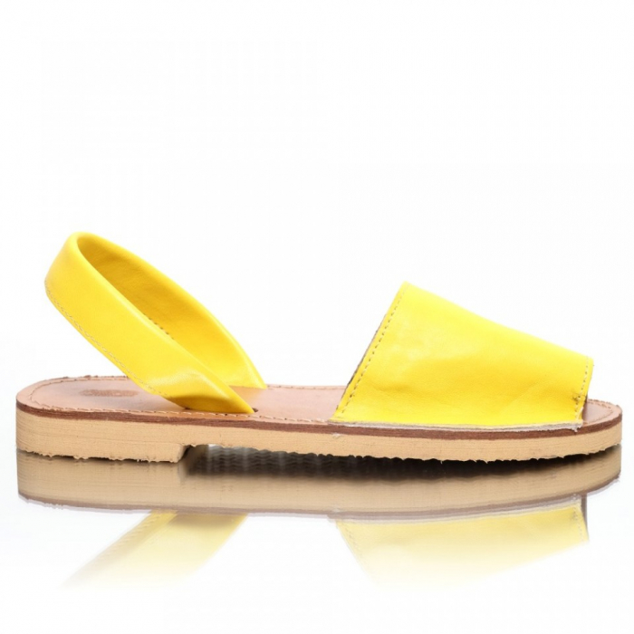 Sandale dama tip Avarca Galben