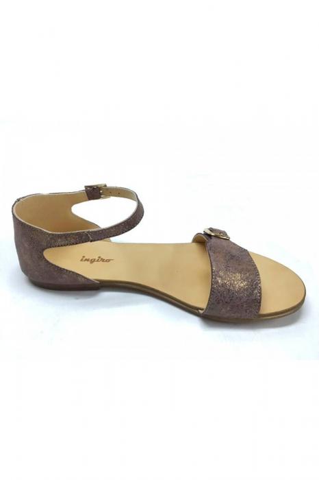 Sandale de dama din piele Ada Bronzo 2