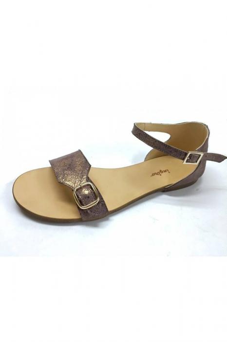 Sandale de dama din piele Ada Bronzo 1