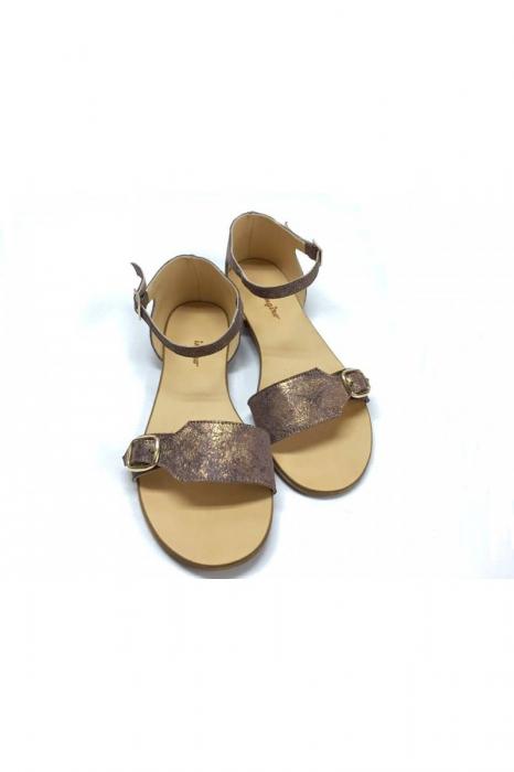 Sandale de dama din piele Ada Bronzo 3