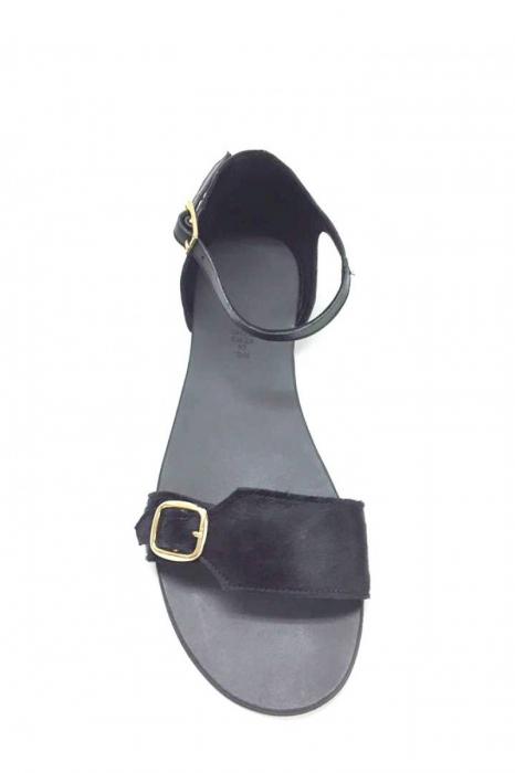 Sandale de dama din piele Ada Pony Black 2