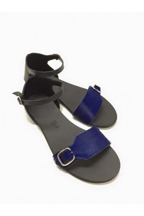 Sandale de dama din piele Ada Pony Blue 3