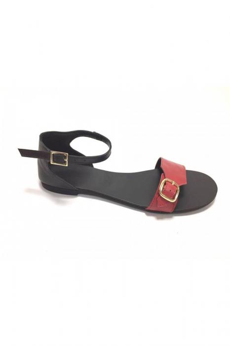 Sandale de dama din piele Ada Red 1
