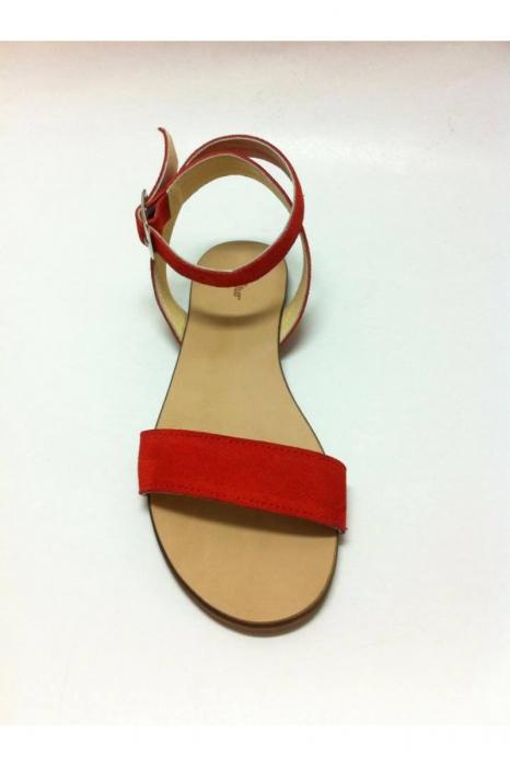 Sandale de dama din piele bareta Red