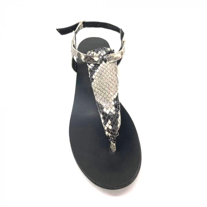Sandale de dama din piele naturala Snake Print 3