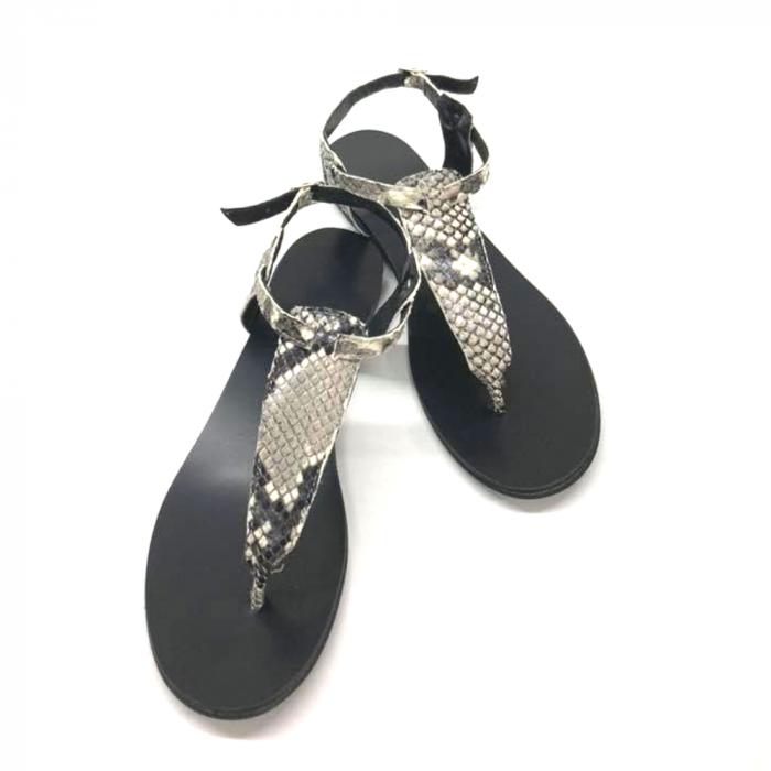 Sandale de dama din piele naturala Snake Print 2