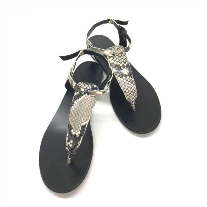 Sandale de dama din piele naturala Snake Print, 38 [2]