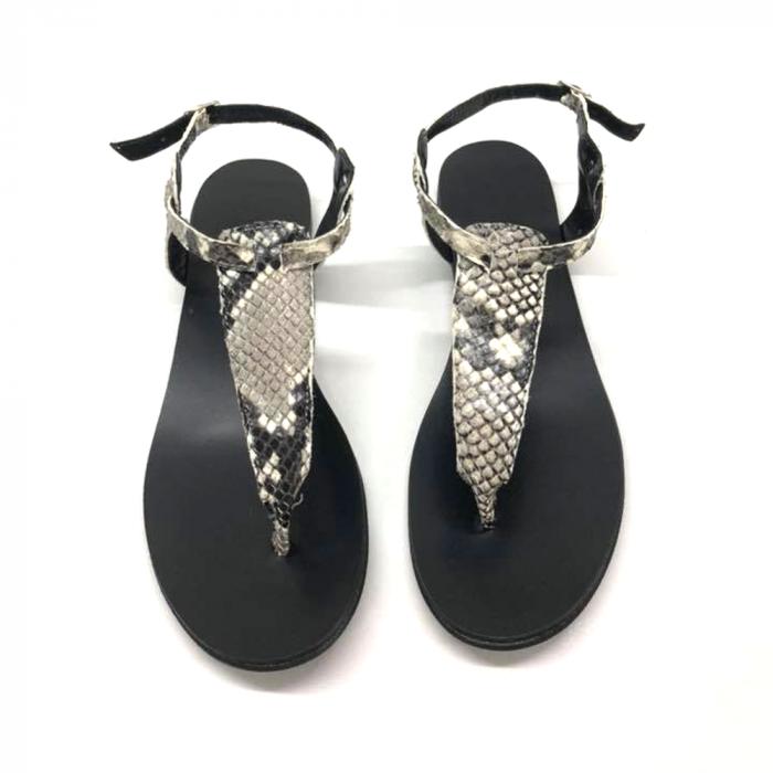 Sandale de dama din piele naturala Snake Print 0